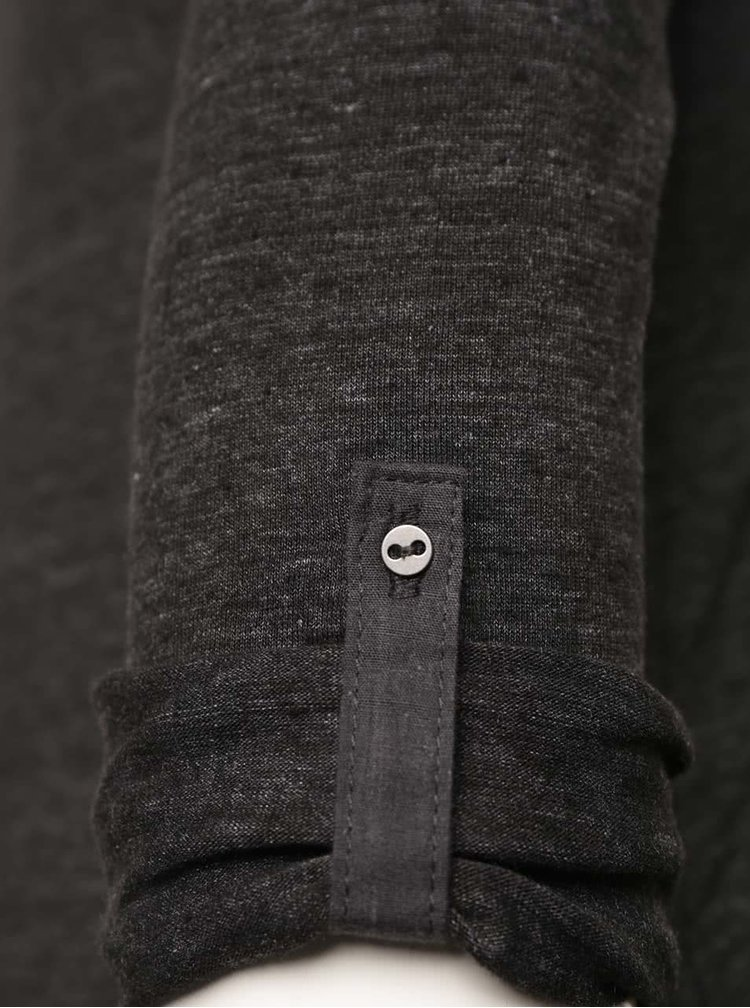 Tmavě šedé tričko s kapsou TALLY WEiJL