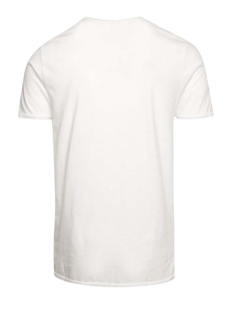 Krémové tričko Jack & Jones Johny Cash