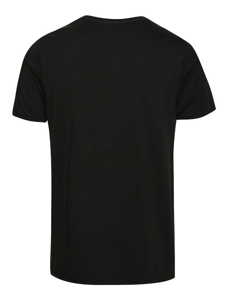 Čierne tričko Jack & Jones Johny Cash