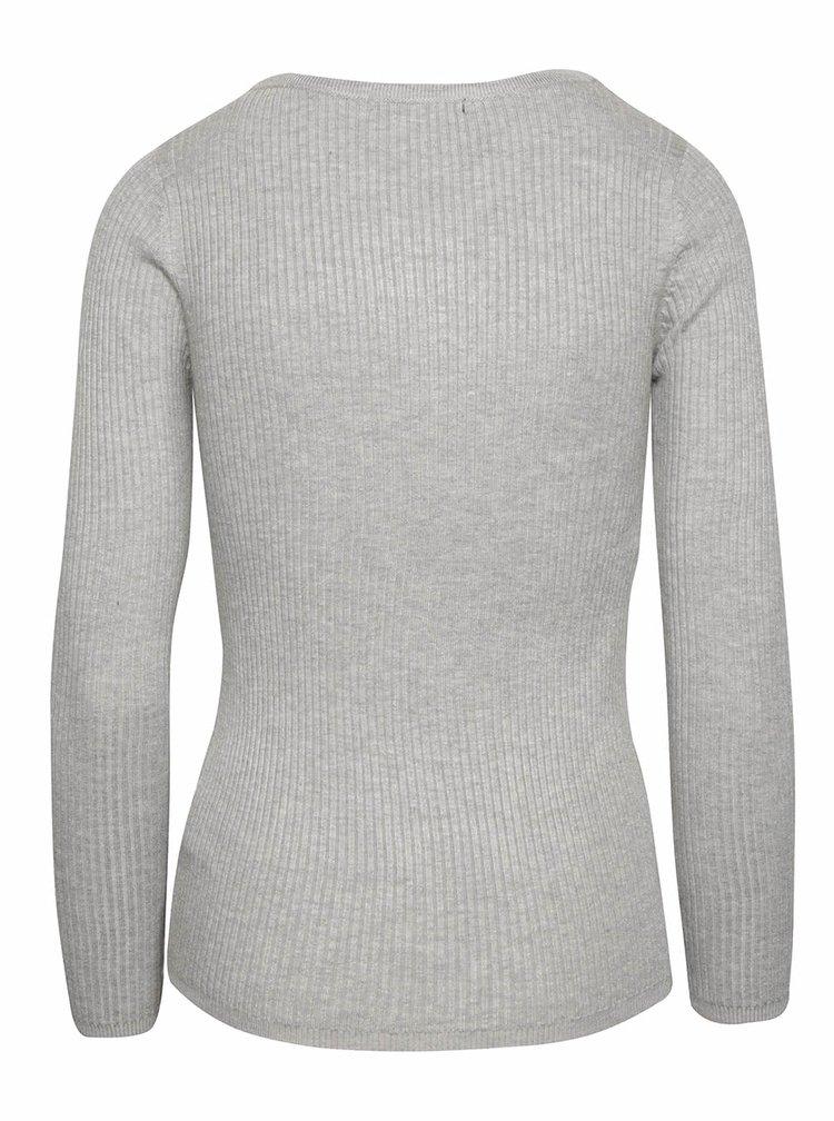Sivý sveter so šnurovaním a dlhým rukávom TALLY WEiJL