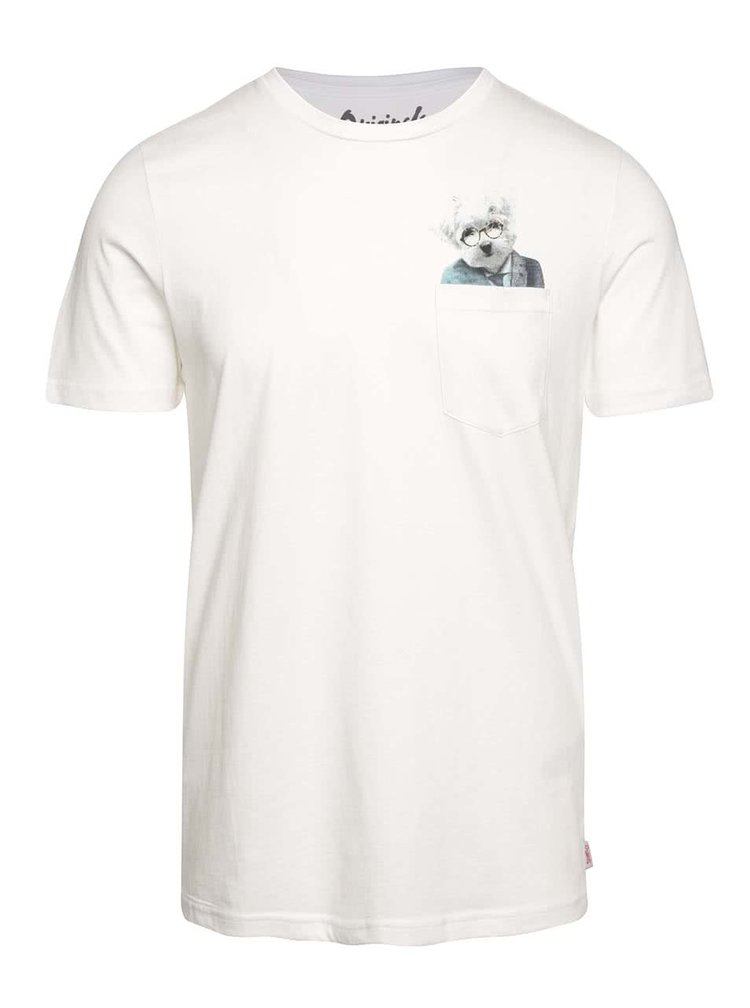 Krémové triko s potiskem v kapse Jack & Jones Pocket