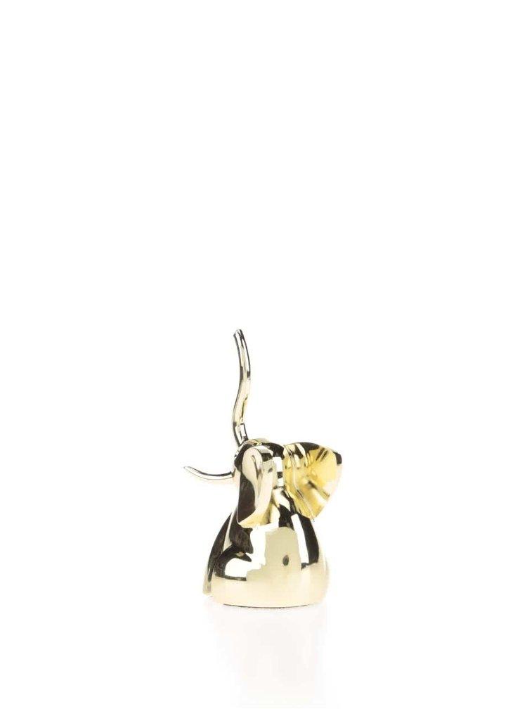 Mosazný stojánek na šperky Umbra Zoola Elephant