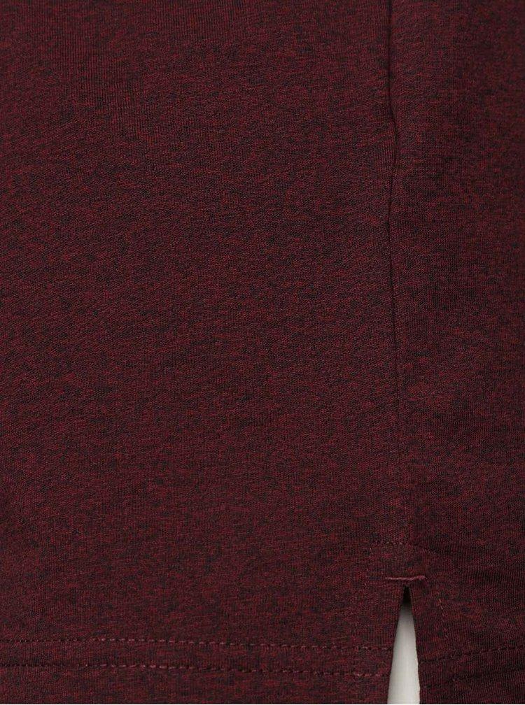 Tricou roșu burgundy Jack & Jones Grindle cu print