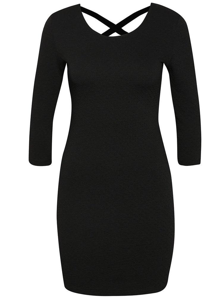 Černé šaty s 3/4 rukávem Tally Weijl