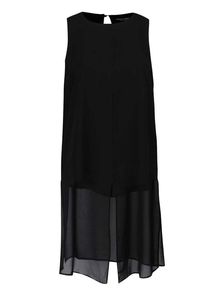 Černé šaty s krátkou spodničkou Dorothy Perkins Curve
