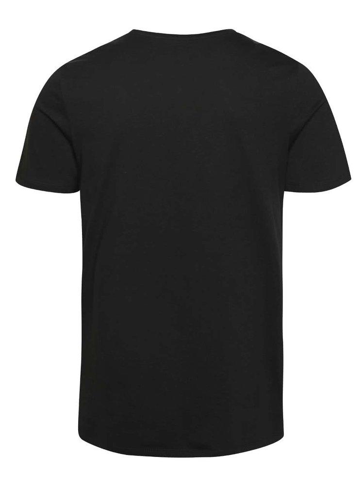 Černé triko s potiskem Jack & Jones Zen