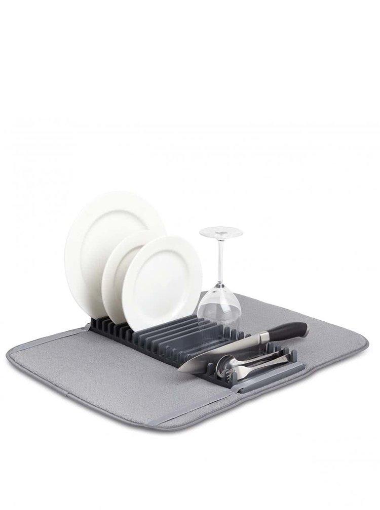 Šedý odkapávač na nádobí Umbra Udry Mini