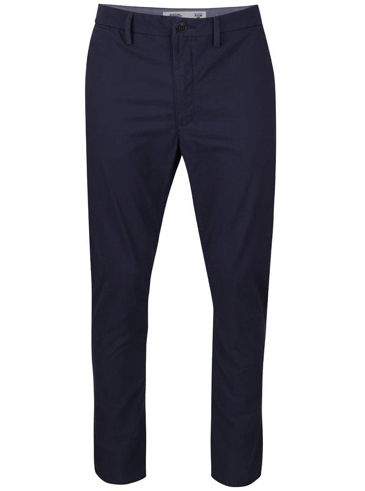 Tmavě modré chino kalhoty Burton Menswear London