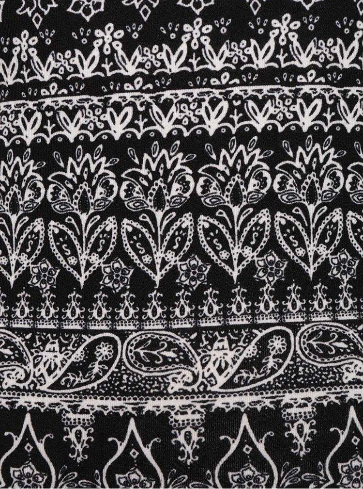 Bielo-čierne vzorované tričko s 3/4 rukávom TALLY WEiJL