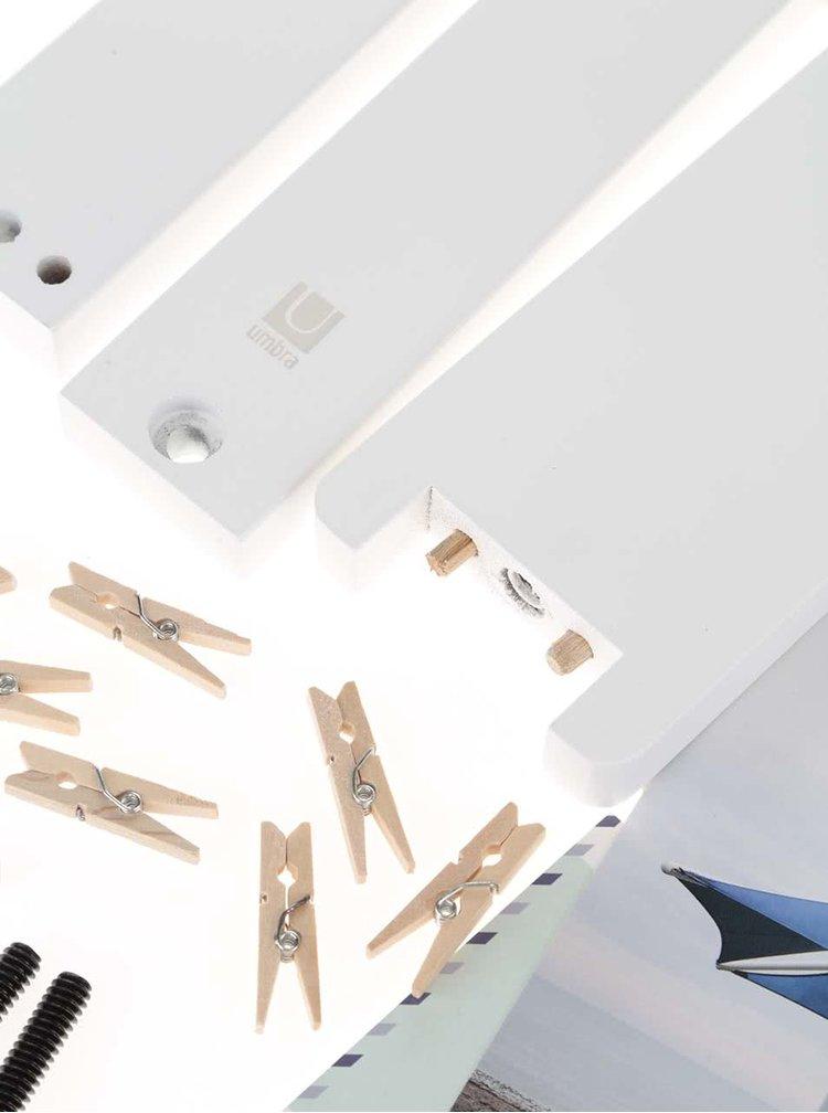 Bílý držák na fotky Umbra Hangit