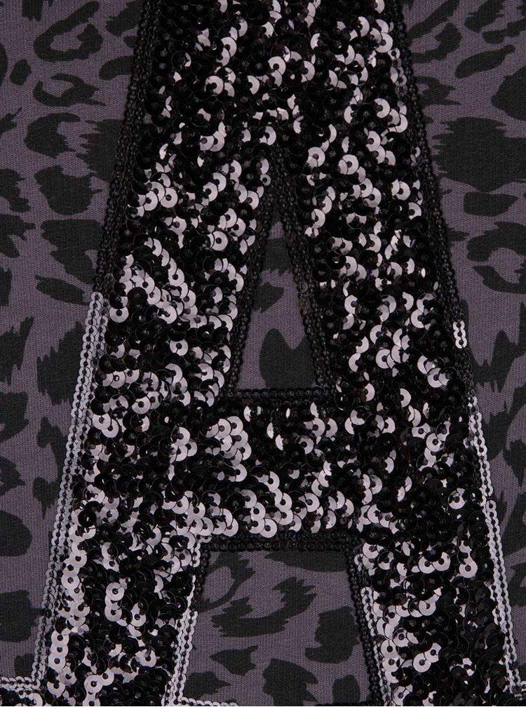 Bluză lungă gri Cars Suri cu animal print