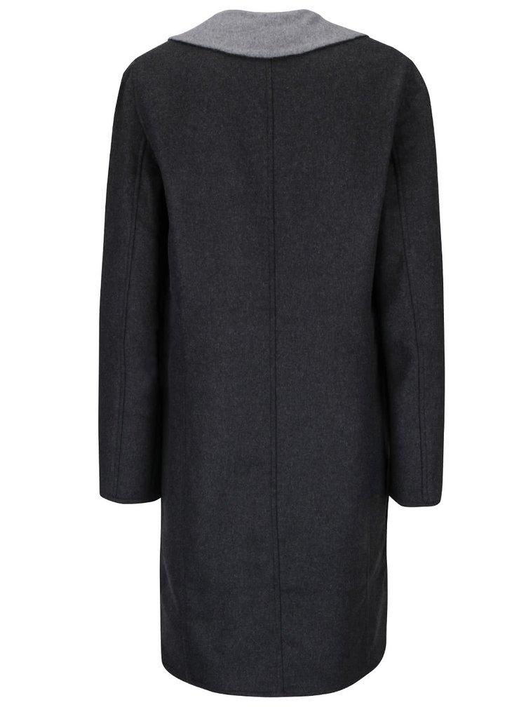 Tmavě šedý kabát Rich & Royal