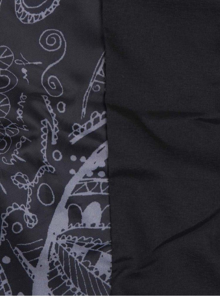 Černý delší bunda s umělým kožíškem Desigual Marisa