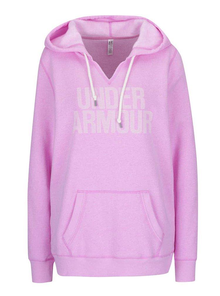 Růžová dámská mikina Under Armour Favorite Fleece WM Popover