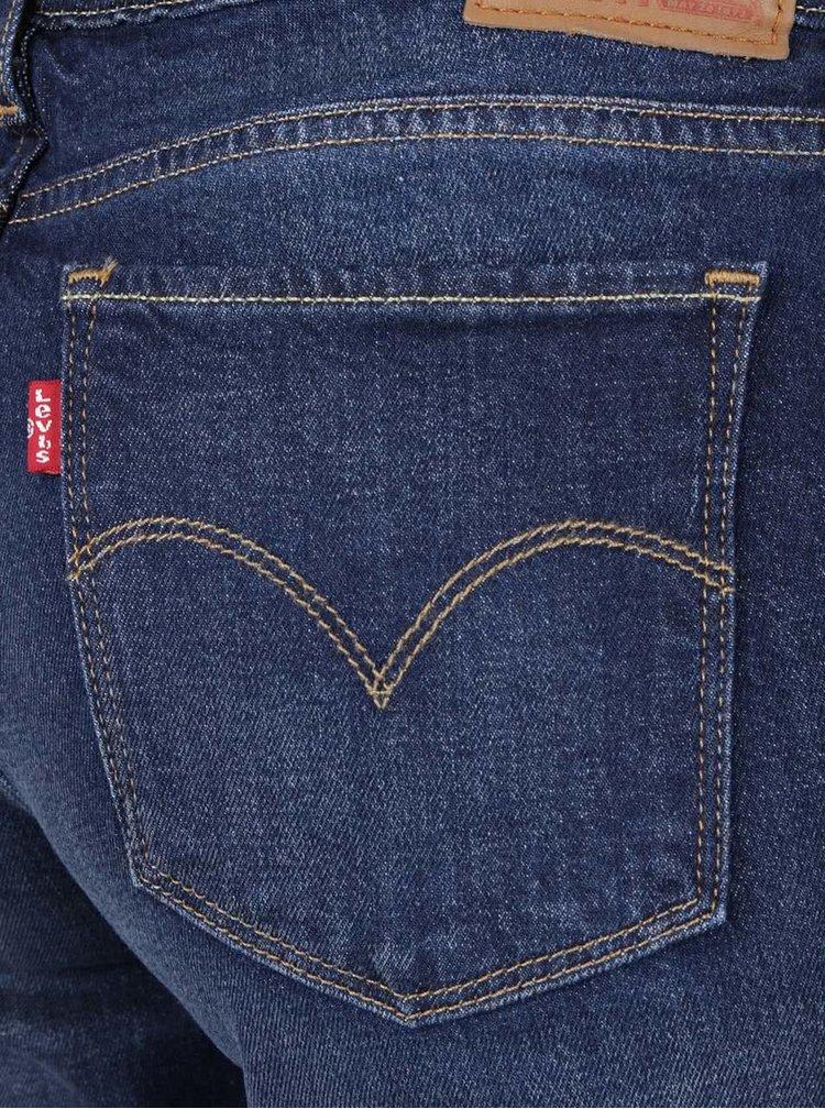 Tmavě modré vyšisované dámské skinny džíny Levi's® 711