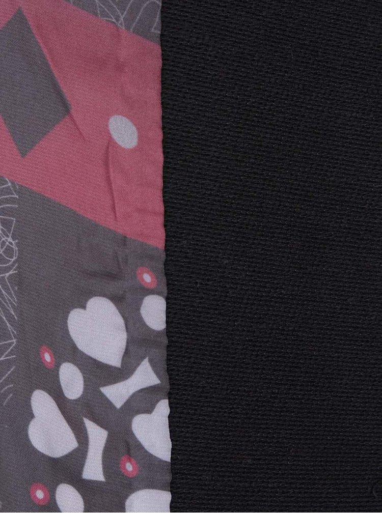 Červeno-černý vzorovaný kabát Desigual Asha