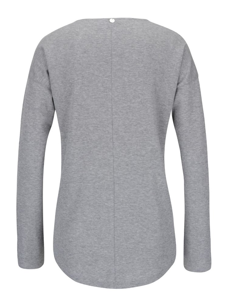 Bluză gri Rich & Royal cu aplicații discrete