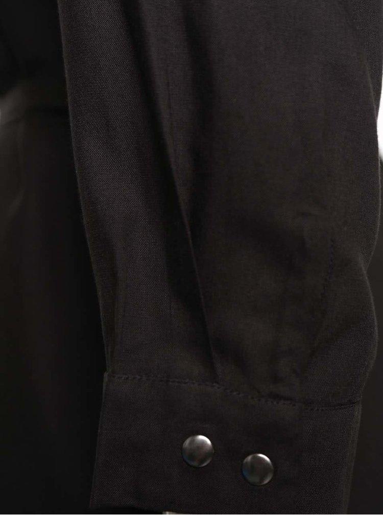 Černé košilové šaty VILA Ellen