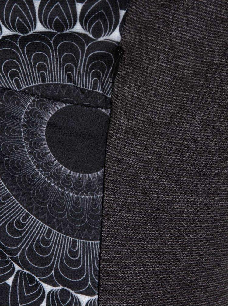 Šedé vzorované šaty s výstřihem na zádech Desigual Tricia