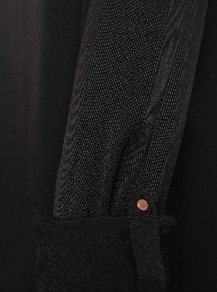Černá halenka s knoflíky VILA Filter