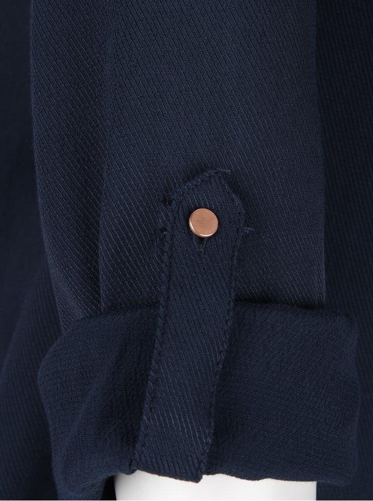 Tmavě modrá halenka s knoflíky VILA Filter