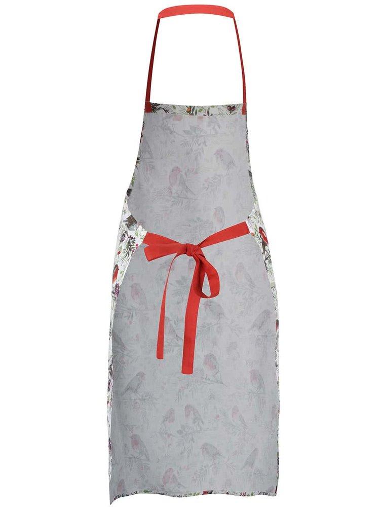 Krémová zástěra s vánočním motivem Cooksmart Winter Chorus