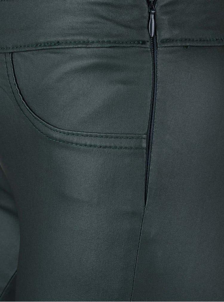 Tmavě zelené úzké strečové kalhoty VILA Commit