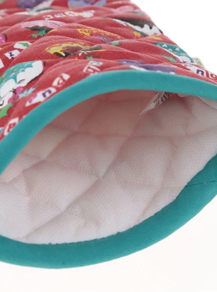 Červená chňapka s vánočním motivem Cooksmart Winter Pudd