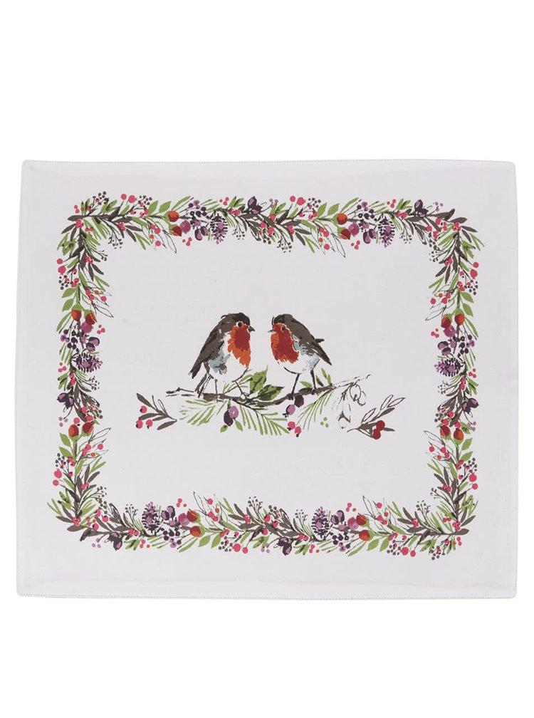 Sada dvou krémových prostírání s vánočním motivem Cooksmart Winter Chorus