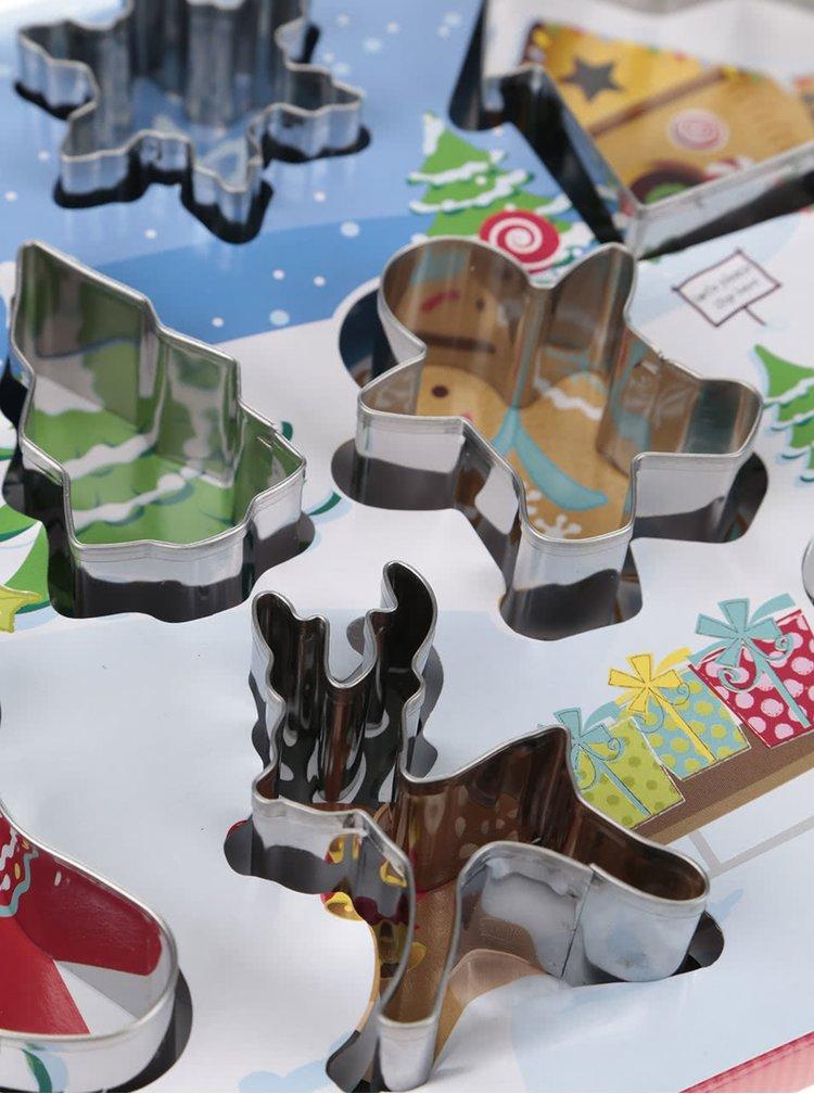 Set de 8 forme pentru copt Cooksmart Christmas