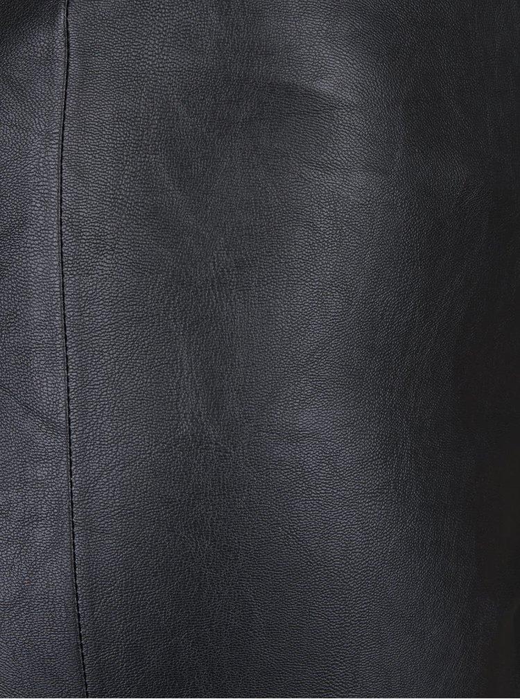 Černé koženkové legíny Desires Gida
