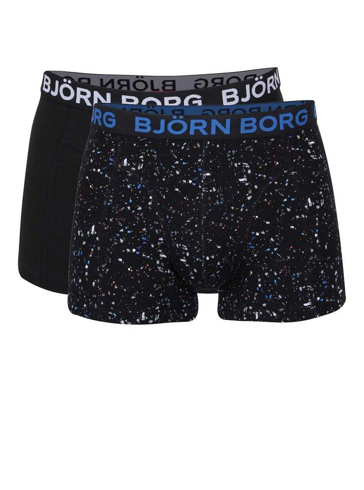 Set de 2 boxeri negri Björn Borg