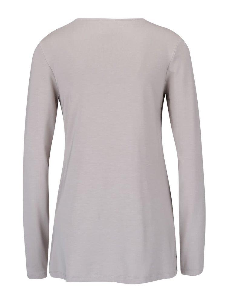 Béžové těhotenské/kojicí tričko s dlouhým rukávem Mama.licious Petit