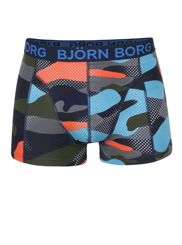 Sada dvou vzorovaných boxerek v tmavě modré barvě Björn Borg