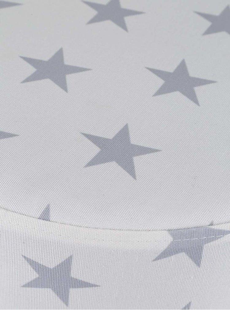 Krémový sedák s potiskem hvězd Dakls