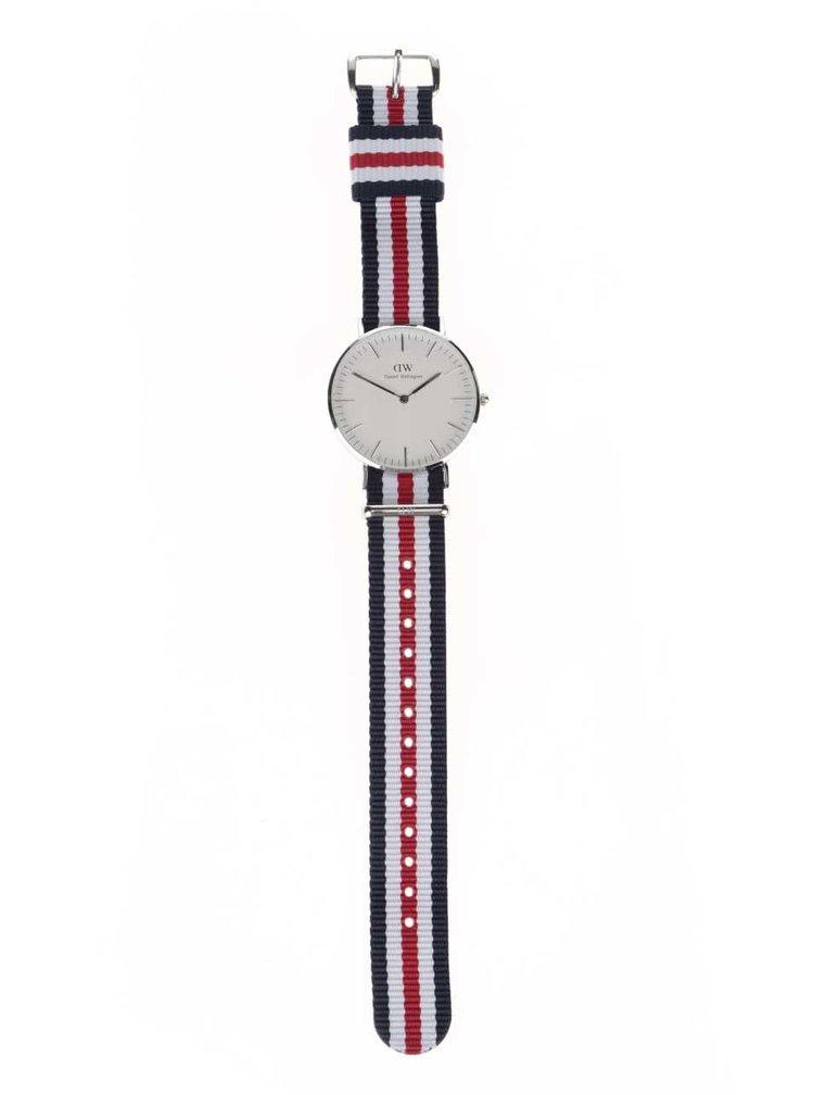 Dámské hodinky ve stříbrné barvě CLASSIC Cantebury Daniel Wellington