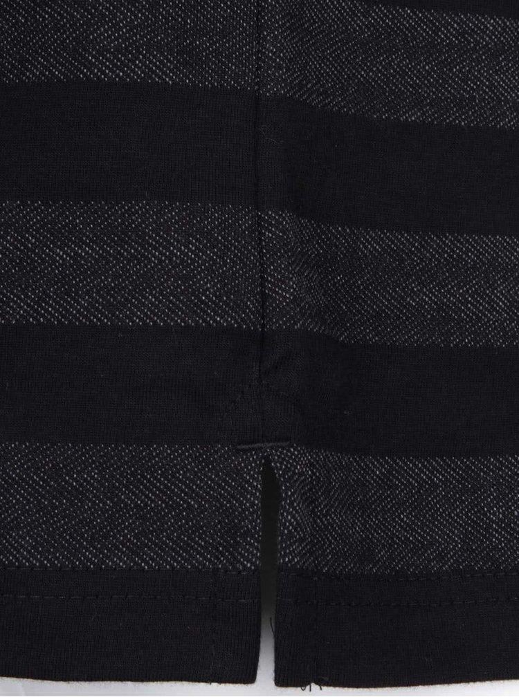 Šedo-černé pruhované polo triko Lindbergh