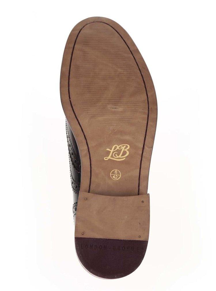 Pantofi oxford burgundy London Brogues Gatsby