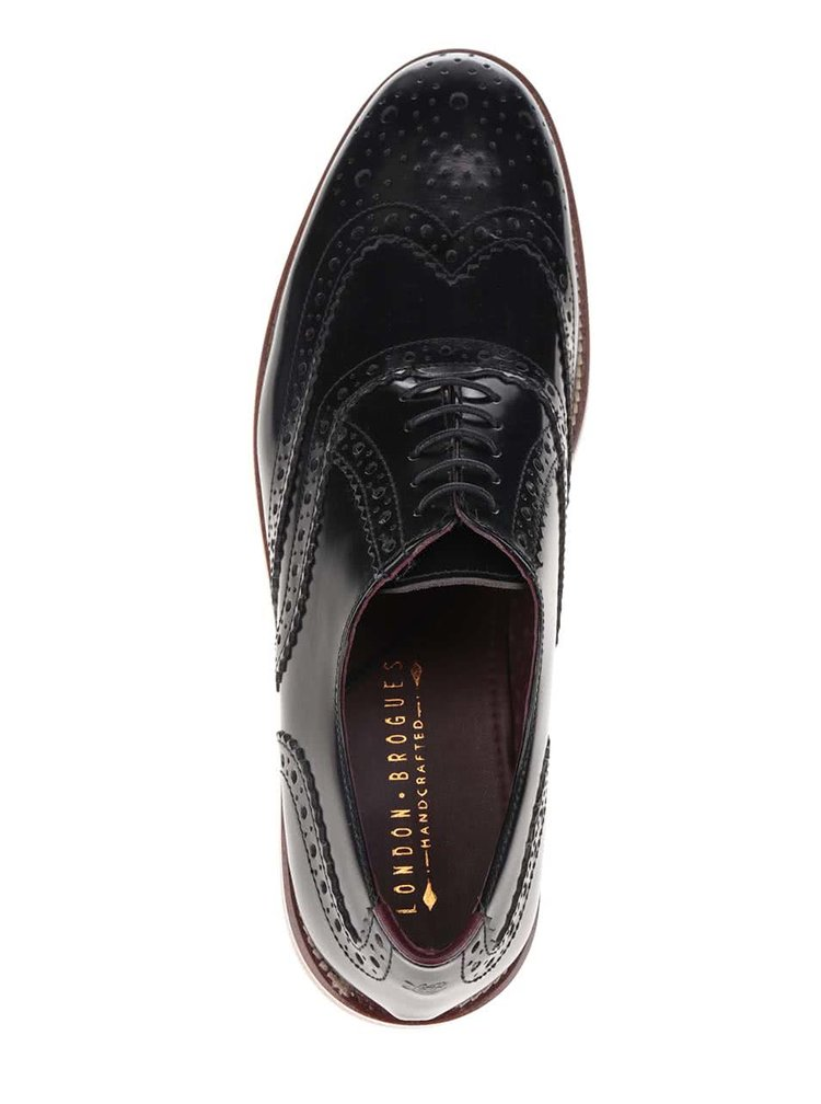 Pantofi oxford negri Gatsby London Brogues