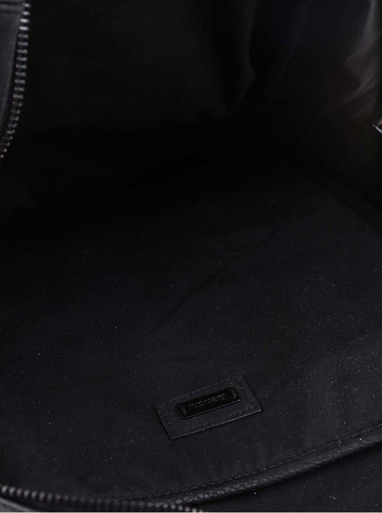 Čierny unisex koženkový batoh Bench Masterpiece