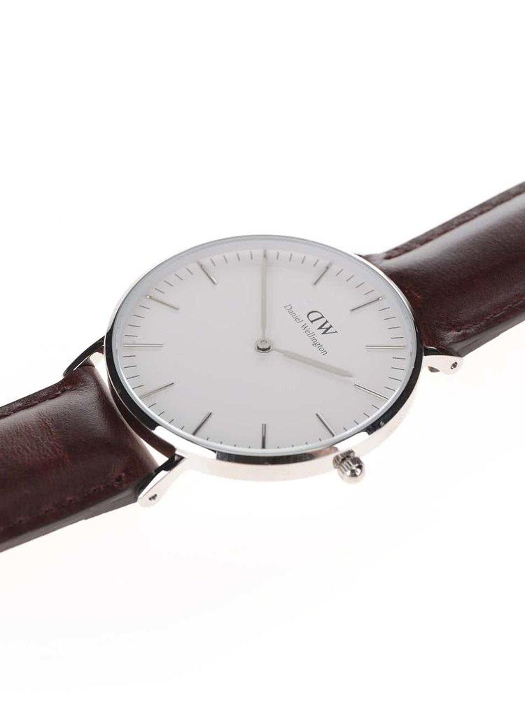 Dámské hodinky s hnědým koženým páskem Daniel Wellington CLASSIC Bristol