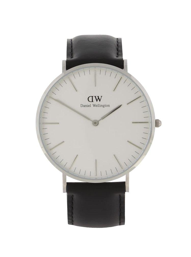 Pánske hodinky v striebornej farbe CLASSIC Sheffield Daniel Wellington