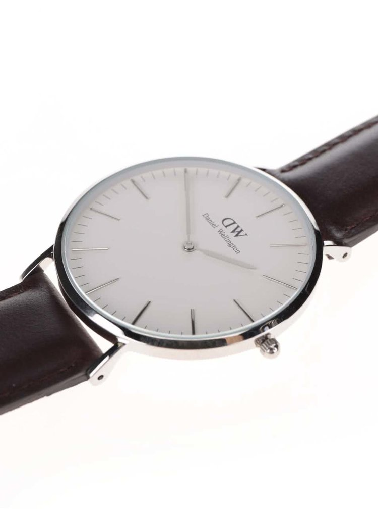 Pánské hodinky ve stříbrné barvě CLASSIC Bristol Daniel Wellington