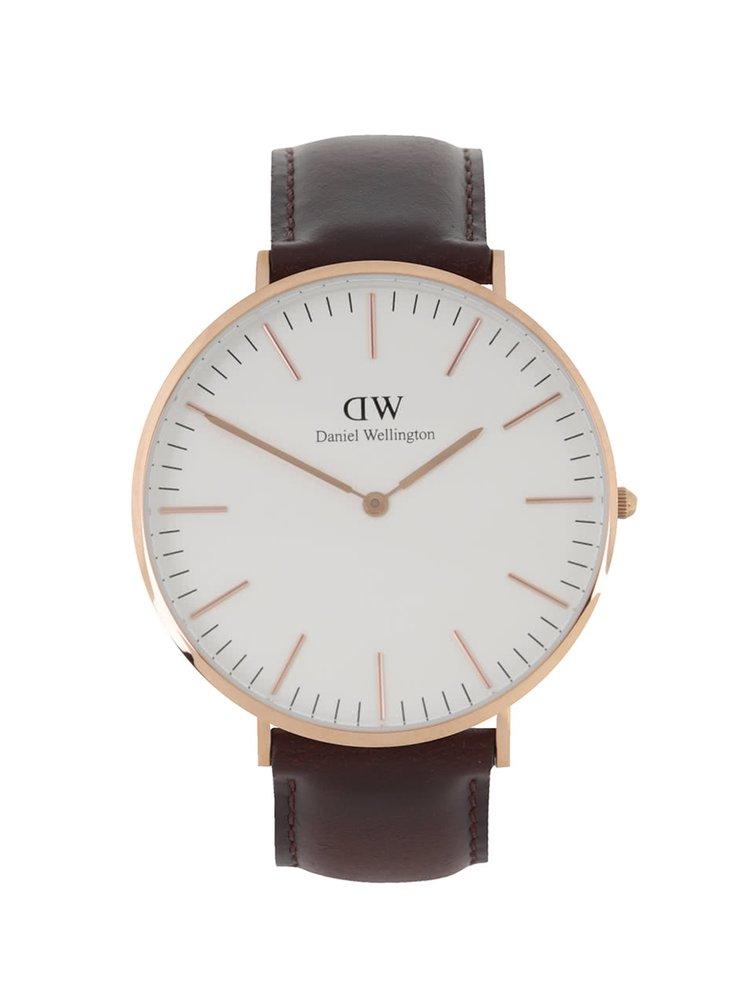 Pánské hodinky ve zlaté barvě CLASSIC Bristol Daniel Wellington