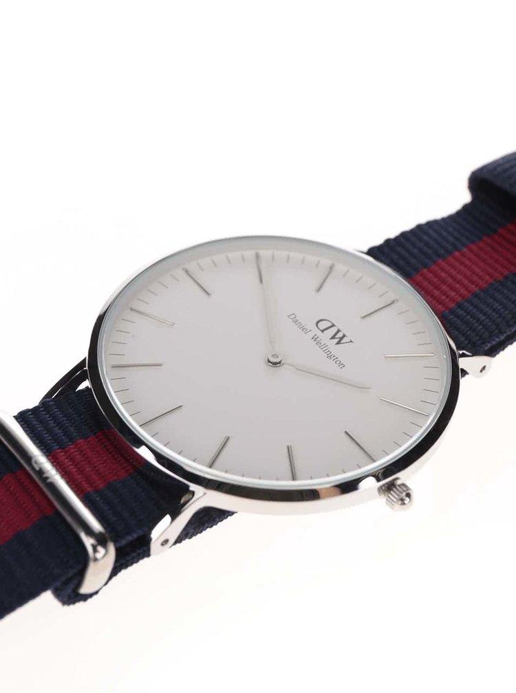Pánské hodinky ve stříbrné barvě CLASSIC Oxford Daniel Wellington