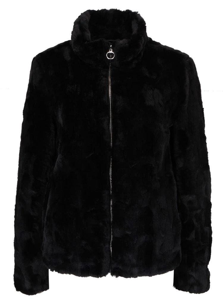 Černá bunda z umělé kožešiny Dorothy Perkins