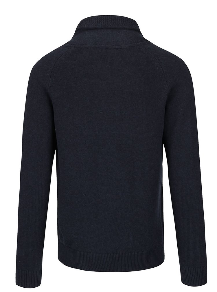 Modrosivý sveter s vysokým golierom Selected Homme Eldon