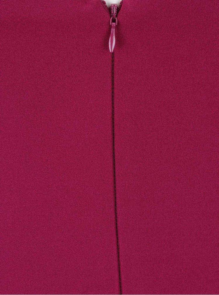 Růžové šaty se zdobenými klíny Goddiva