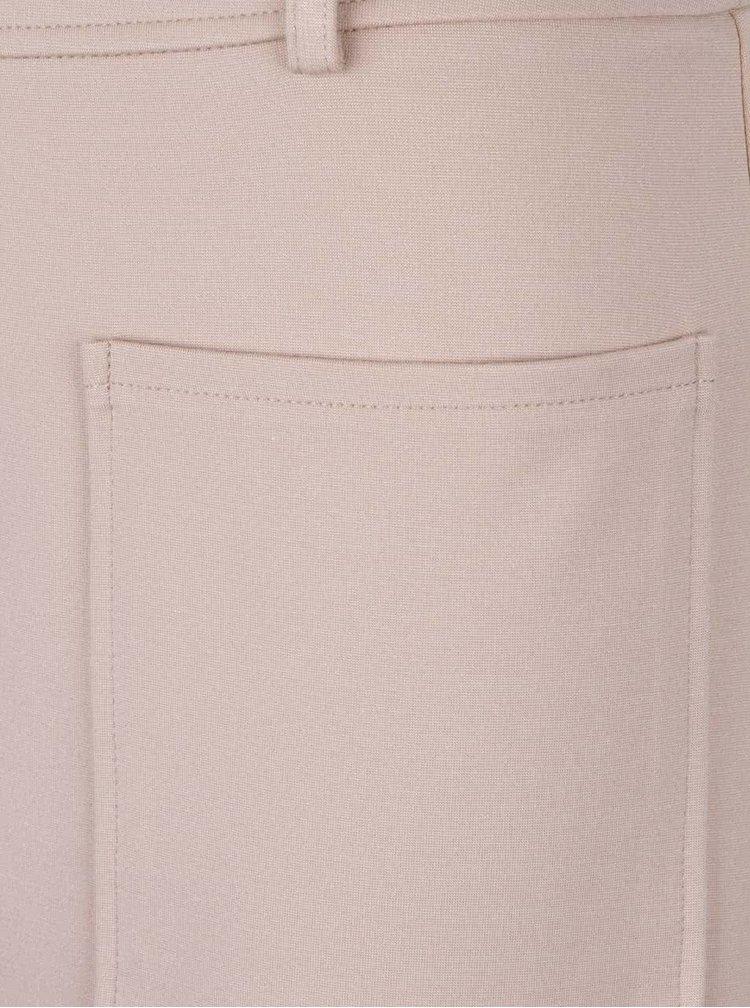 Béžová sukně s kapsami a zipem Dorothy Perkins