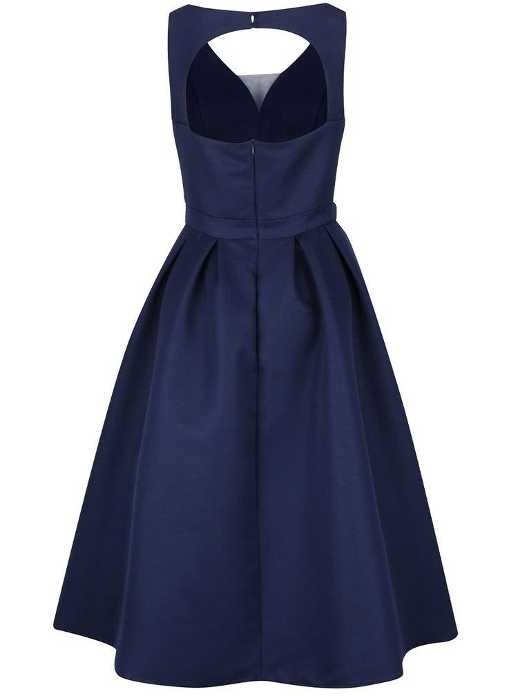 Tmavě modré šaty s tylovou sukní Chi Chi London